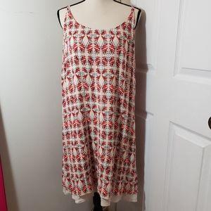 Cabi print adjustable strap sleeveless dress